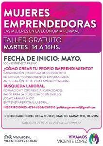 Mujeres Emprendedoras. Programa Integral Vicente López.
