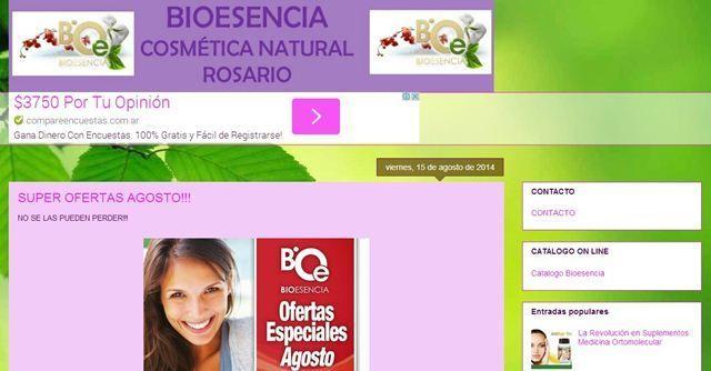Bioesencia Cosmética Natural Rosario.