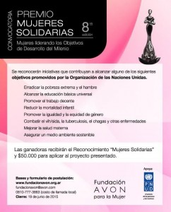 Premio Mujeres Solidarias 2015.