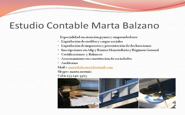 Estudio Contable Marta Balzano.