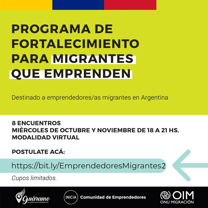 Programa de Fortalecimiento para Migrantes que Emprenden.